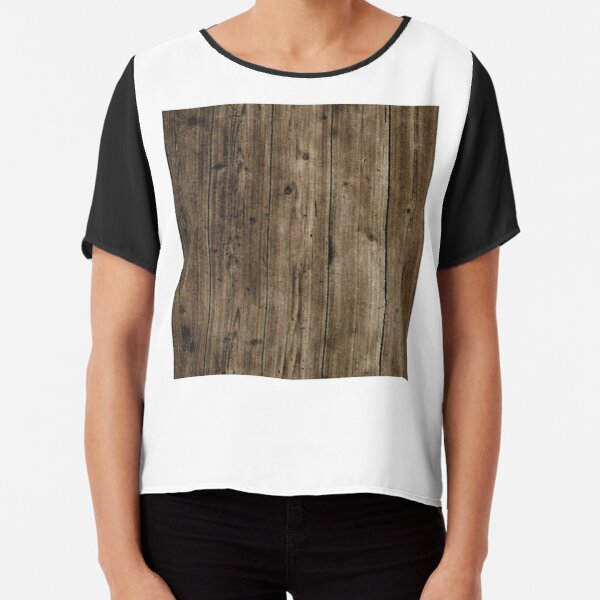 Wooden boards Chiffon Top