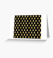 Golden Xmass Greeting Card