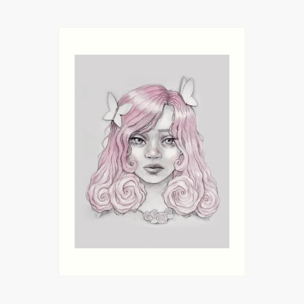 Rose Girl Art Print
