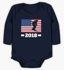 USA Winter Team Alpine Skiing in Russia 2018  Long Sleeve Baby One-Piece