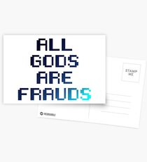 All gods are frauds Postcards