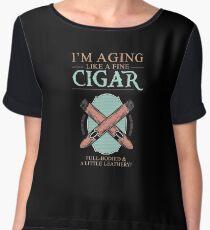 Fine Cigar Gift | Cigar Gift For Men | Cigar Gift For Him | Cigar Gift for Dad | Unique Cigar Gifts | Cigar Shirt | Birthday Cigar Gift | Cigar Lovers  Chiffon Top