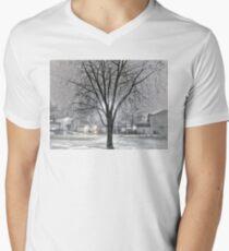 Snowy Tree at Night T-Shirt