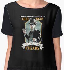 Funny Cigar Gift   Cigar Gift For Men   Cigar Gift For Him   Cigar Gift for Dad   Unique Cigar Gifts   Cigar Shirt   Birthday Cigar Gift   Cigar Lovers  Chiffon Top