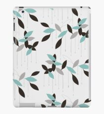 Abstract seamless pattern with blue leaves iPad Case/Skin