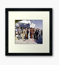Leonard Nimoy - Mr Spock Signed Photo - Star Trek Crew autograph Framed Print