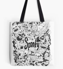 Spooky Doodleart Tote Bag