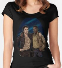 Finn And Poe Women's Fitted Scoop T-Shirt
