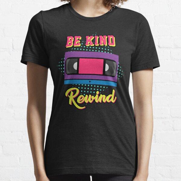Be Kind Rewind | Regalo del tema de los 80 | Neón 80s tshirt de <br> Agrega Estilo A Su Móvil! camisa del papá del rad | Papá de los 80 | camiseta gráfica retro | fiesta de los ochenta | Fiesta temática de los 80 | camiseta gráfica retro Camiseta esencial