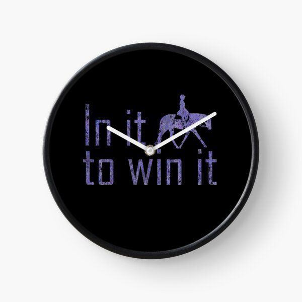 In It To Win It - English Horse  Clock