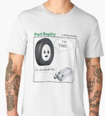 Cartoon : Tired and Exhausted Men's Premium T-Shirt