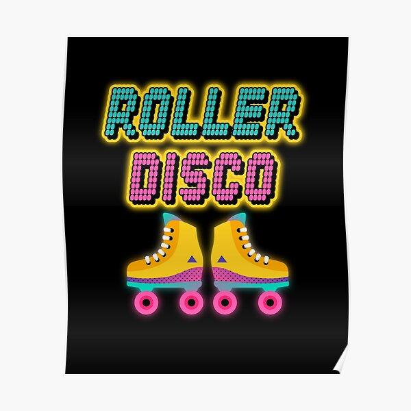 Roller Disco 80s   Regalo del tema de los 80   Neón 80s tshirt de <br> Agrega Estilo A Su Móvil! camisa del papá del rad   Papá de los 80   camiseta gráfica retro   fiesta de los ochenta   Fiesta temática de los 80   camiseta gráfica retro Póster