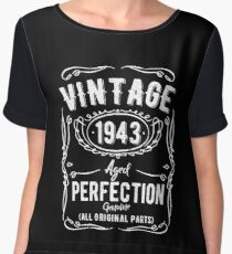 75th Birthday - Made in 1943 - Vintage, Aged Women's Chiffon Top