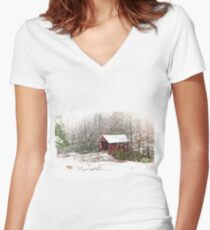 Winters Covering Women's Fitted V-Neck T-Shirt