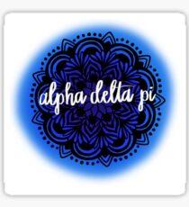 Alpha Delta Pi Mandala Sticker