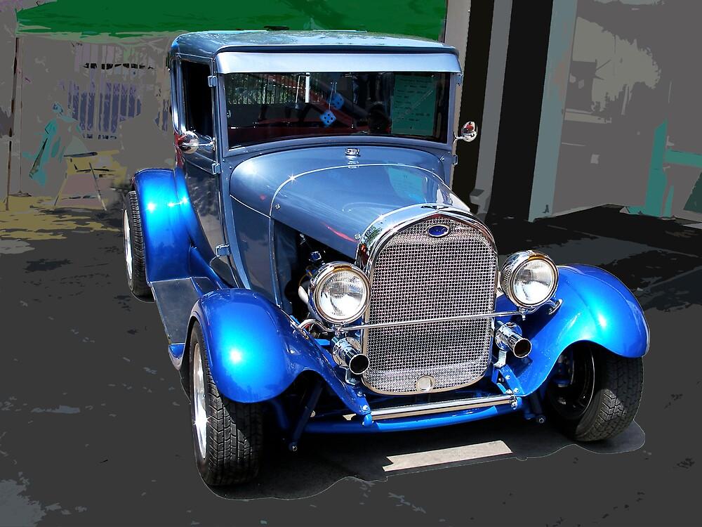 Blue Shine '29 Model A Ford - Street Rod by TWindDancer