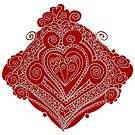 Red Wrought Heart by KazM