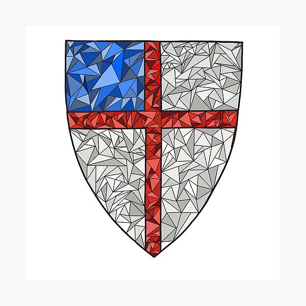 Episcopal Shield Triangle Photographic Print