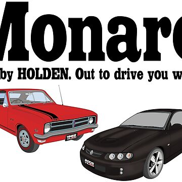 New And Old Monaro - Red and Black by holdenfanpage
