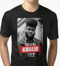 Khalid - we shouldn't be in and as gates Tri-blend T-Shirt