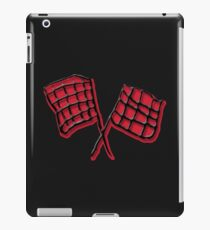 Black and red race flag iPad Case/Skin