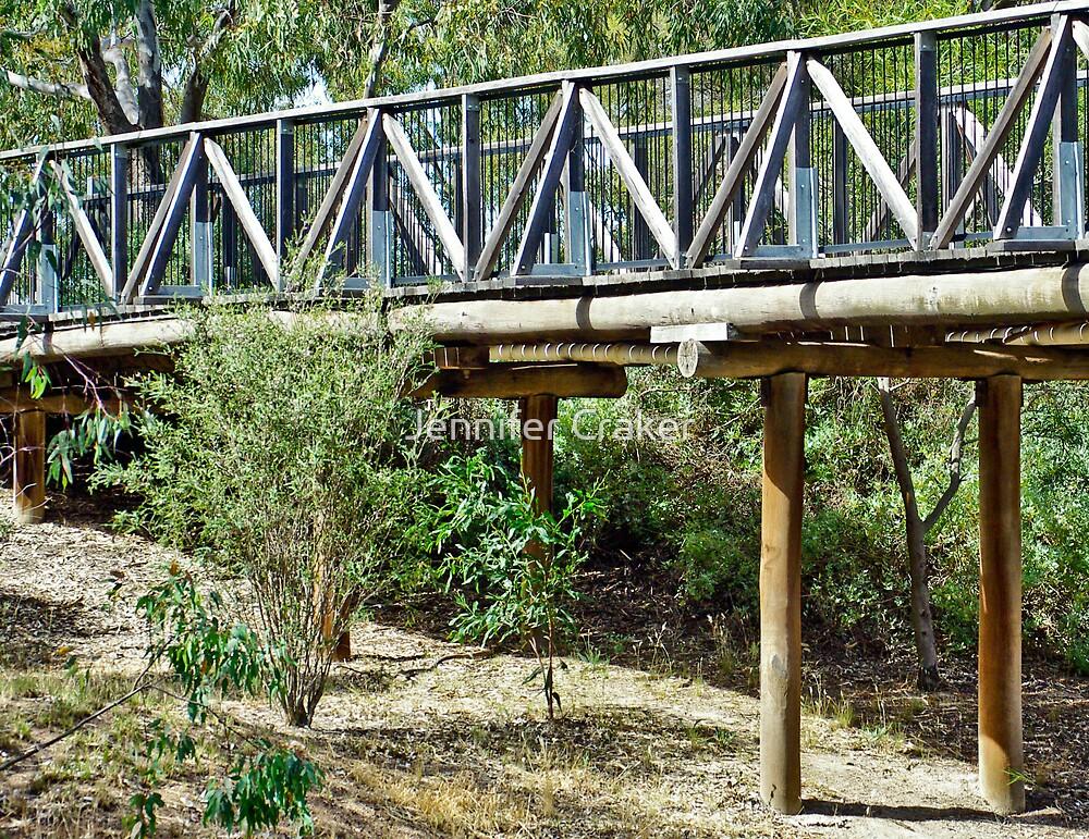 Bridge along Wimmera River by Jennifer Craker
