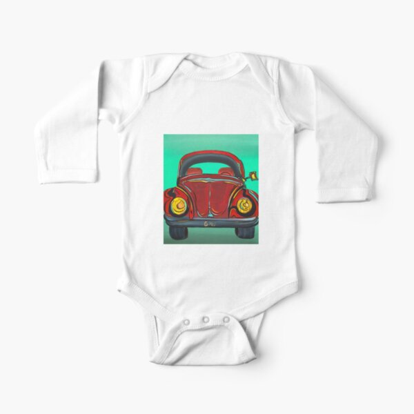 My first Beetle Long Sleeve Baby One-Piece