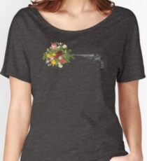 Gun and Roses  Women's Relaxed Fit T-Shirt