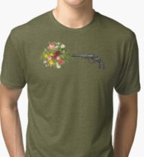 Gun and Roses  Tri-blend T-Shirt