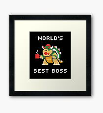 World's Best Boss Framed Print