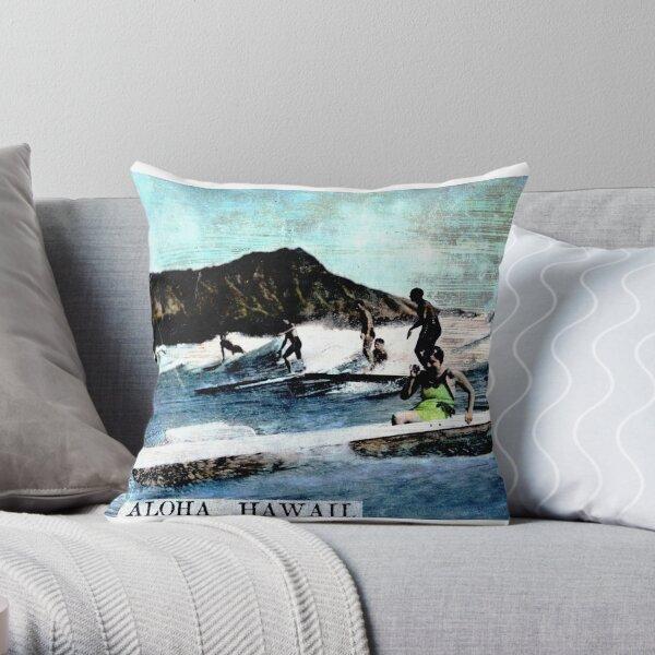 1936 Aloha Hawaii Throw Pillow