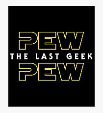 Pew Pew The Last Geek - Yellow Photographic Print
