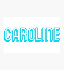 Caroline - Sky blue Photographic Print