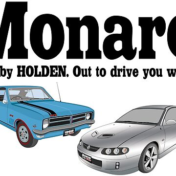 New And Old Monaro - Blue and Silver by holdenfanpage