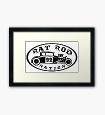 Rat Rod Nation Design Framed Print
