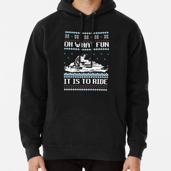 Id Rather Be Snowmobile Rider Adult Mens Sports Long Sleeve Hoody T-Shirt