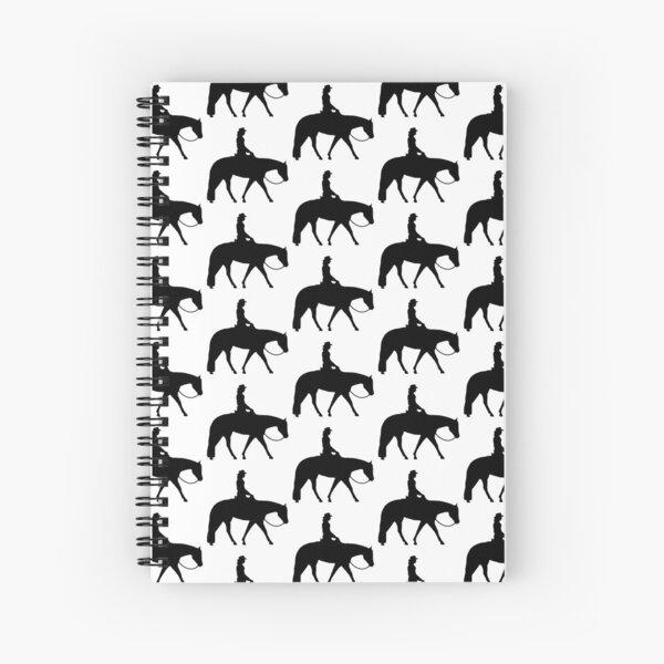 Western Pleasure Horse Female Rider Spiral Notebook