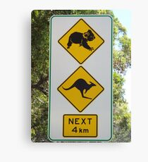 Australian Road Sign Canvas Print