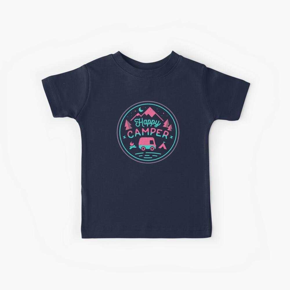 Fröhliches Camper Soft-Top Kinder T-Shirt