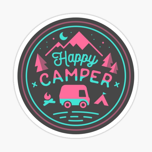 Happy Camper Soft-top Sticker