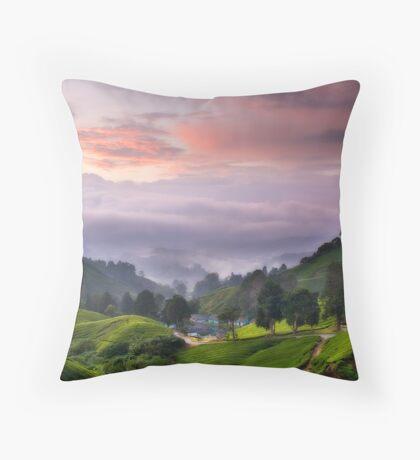 Morning @ The Tea Farm Throw Pillow