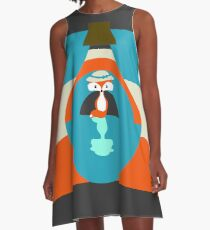 Cute fox reflection A-Line Dress