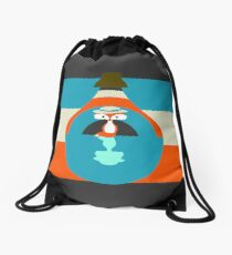 Cute fox reflection Drawstring Bag