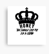Moriarty quote design Canvas Print