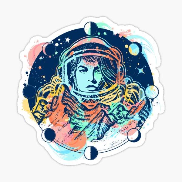 Mujer astronauta Pegatina