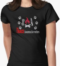 TOP T-SHIRT SN430 The Trace Dangerous Day For Boys Trending Women's Fitted T-Shirt