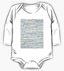 Psych tv show poster, nicknames, Burton Guster One Piece - Long Sleeve
