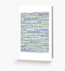 Psych tv show poster, nicknames, Burton Guster Greeting Card