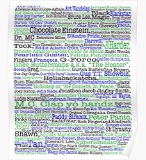 Psych tv show poster, nicknames, Burton Guster Poster