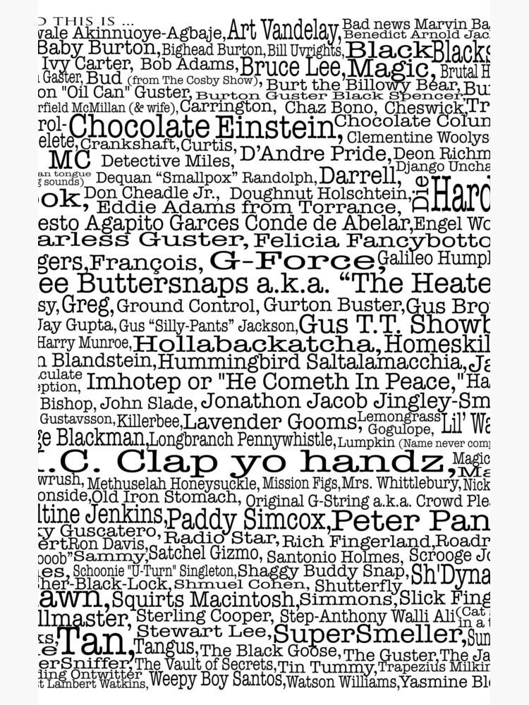 Poster del programa de televisión Psych, apodos, Burton Guster de happyyakk